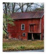Barn - Seen Better Days Fleece Blanket
