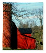 Barn Shadows Fleece Blanket