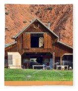 Barn Ten Sleep Wyoming Fleece Blanket
