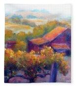 Barn Vineyard Fleece Blanket