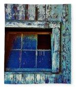 Barn Window 1 Fleece Blanket