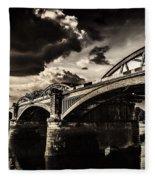 Barnes Rail Bridge Fleece Blanket