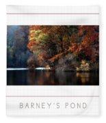 Barney's Pond Poster Fleece Blanket