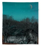 Barns-featured In Visions Of The Night Group Fleece Blanket