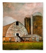 Barns In The Country Fleece Blanket
