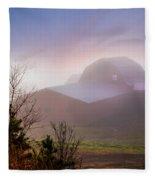 Barns In The Morning Light Fleece Blanket