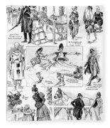 Barnum And Bailey, 1898 Fleece Blanket