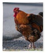 Barnyard Rooster Fleece Blanket