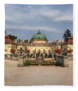 Baroque Landmark - Buchlovice Castle Fleece Blanket