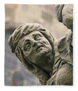 Baroque Statue Depicting Avarice Fleece Blanket
