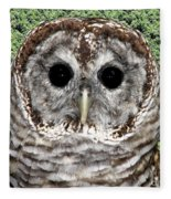 Barred Owl 1 Fleece Blanket