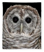 Barred Owl 3 Fleece Blanket