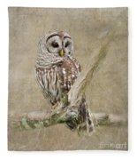 Barred Owl Portrait Fleece Blanket