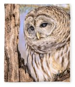Barred Owl Watch Fleece Blanket