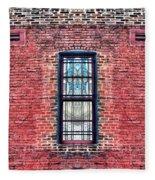 Barred Windows On Brick Fleece Blanket