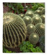 Barrel Cacti Fleece Blanket
