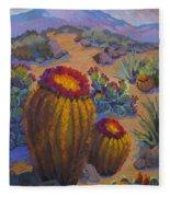 Barrel Cactus In Warm Light Fleece Blanket