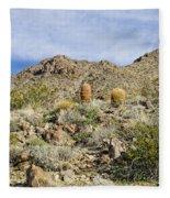 Barrel Cactus Fleece Blanket