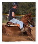 Barrel Racing Fleece Blanket