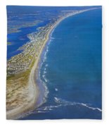 Barrier Island Aerial Fleece Blanket