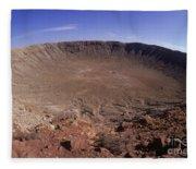 Barringer Crater, Fisheye View Fleece Blanket