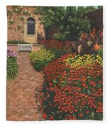 Barrington Court Gardens Somerset Fleece Blanket