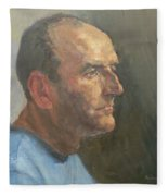Barry, 2008 Oil On Canvas Fleece Blanket