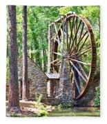 Berry College's Old Mill - Square Fleece Blanket