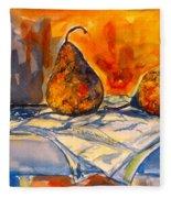 Bartlett Pears Fleece Blanket