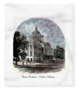 Barton Academy - Mobile Alabama Fleece Blanket