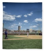 Baseball At Wrigley Field In The 1990s Fleece Blanket