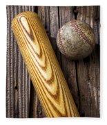 Baseball Bat And Ball Fleece Blanket