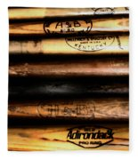 Baseball Bats Fleece Blanket