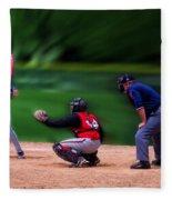 Baseball Batter Up Fleece Blanket
