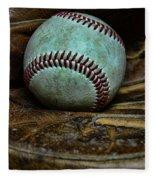 Baseball Broken In Fleece Blanket