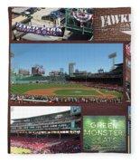 Baseball Collage Fleece Blanket