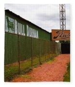 Baseball Field Bull Durham Sign Fleece Blanket