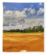 Baseball Field Fleece Blanket