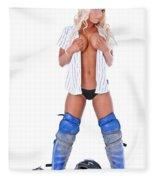 Baseball Girl Fleece Blanket