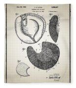Baseball Glove Patent Fleece Blanket