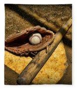 Baseball Home Plate Fleece Blanket