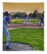 Baseball On Deck Circle Fleece Blanket