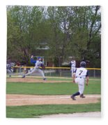 Baseball Pitcher The Delivery Fleece Blanket