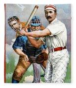 Baseball Player At Bat Fleece Blanket