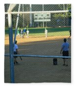 Baseball Practice Fleece Blanket