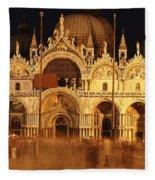Basilica Di San Marco Fleece Blanket