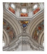 Basilica Of St. Peter In Salzburg Fleece Blanket