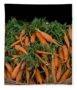 Basket Of Carrots Fleece Blanket