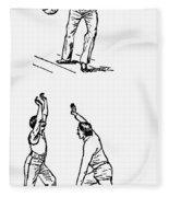 Basketball, 1893 Fleece Blanket