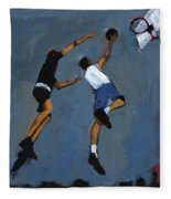 Basketball Players Fleece Blanket